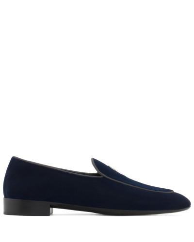 Blue velvet loafer G-FLASH