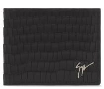 Black crocodile embossed wallet ALBERT