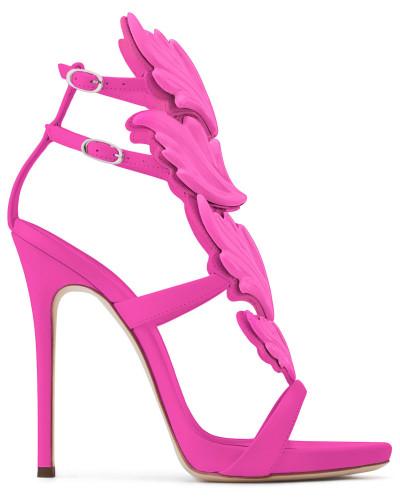 Freies Verschiffen In Deutschland Auslass Großhandelspreis Giuseppe Zanotti Damen Saturated fuxia calfskin sandal with metal 'Cruel' accessory CRUEL nmGLrkpcRn