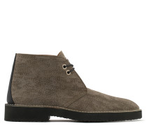 Brown calf suede shoe MATT
