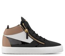 Multicolor calfskin mid-top sneaker JIMBO