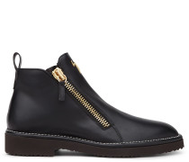 Black calf shoe with zip AUSTIN
