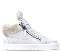 White ram skin mid-top sneaker KRISS