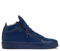 Sneaker mid-top in vernice specchiata blu KRISS