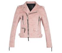Pink fabric motorcycle jacket AMELIA
