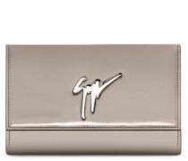 190x125 mm grey patent leather clutch CLEOPATRA