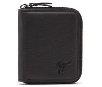 Black soft leather wallet TOM