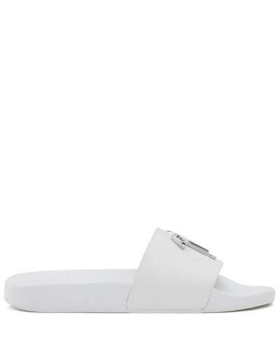 Giuseppe Zanotti Herren White calfskin leather sandal BRETT