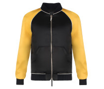 Black satin jacket with gold inserts LANCE