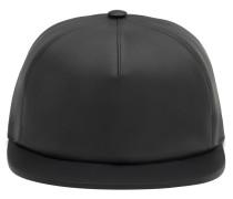 Matt black nappa leather hat TRACEY