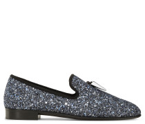 Fabric loafer with silver glitter finishing SPACEY