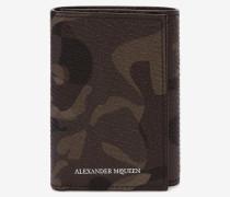 Dreifach klappbares Kartenetui mit Camouflage-Muster