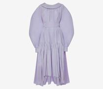 Kleid aus Baumwollseide mit Poetenärmeln
