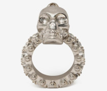Skull-Ring mit Schmucksteinen