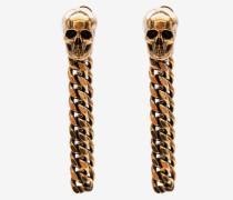 Kettenohrstecker mit Skull Charm