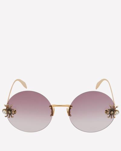 Runde Sonnenbrille mit Jewelled Spider