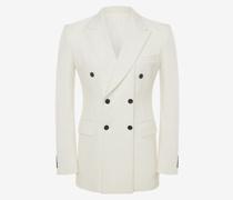 Zweireihige Jacke mit schrägen Revers