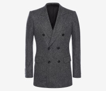 Zweireihiges Jackett aus Kaschmir und Tweed