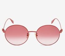 Light Skull Round Sunglasses