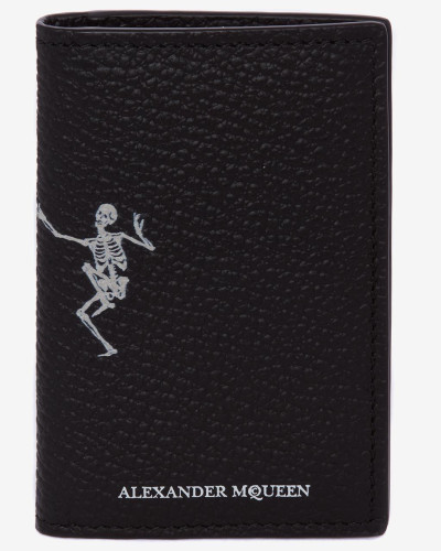 "Pocket Organiser ""Dancing Skeleton"" aus Leder"
