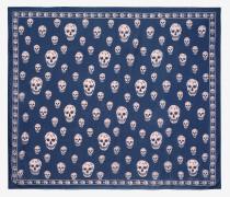 Klassisches Skull-Foulard aus Seidenchiffon
