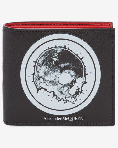 Brieftasche mit Skull-Badge