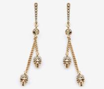 Skull-Ohrringe mit Kette