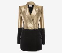 Zweifarbiges Jackett aus leichter Wolle und Seide