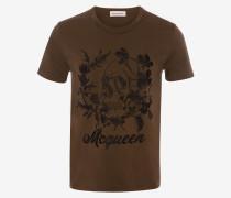 T-Shirt Deconstructed Floral Skull