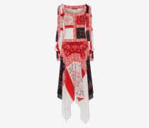 Langes Patchwork-Kleid