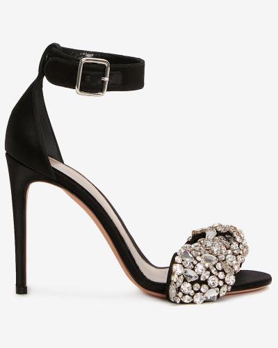 Sandalen mit bestickter Schleife