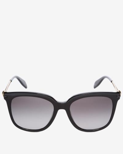 Eckige Skull-Sonnenbrille aus Acetat