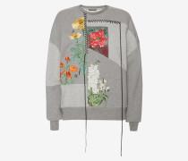 Sweatshirt mit mehrteiliger Stickerei