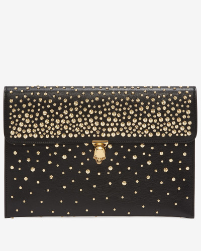 Clutch in Kuvert-Optik mit Skull
