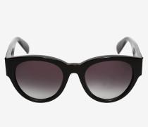 Sonnenbrille Mit Oversized-Fassung und Winzigen Nieten