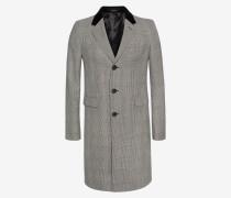 Schmal geschnittener Mantel in Glencheck