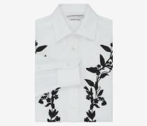 Hemd mit floraler Stickerei