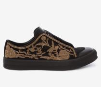Bestickte Low-Top-Sneakers