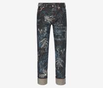 Jeans mit Explorer-Print