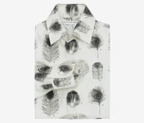 Hemd mit Pfauenfederdruck
