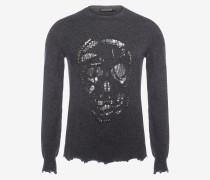 Pullover mit Punk-Skull
