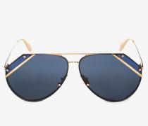 Sonnenbrille in Pilotenform mit winkelförmig geschnittenen Gläsern