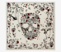 Foulard mit Skull und Perlen
