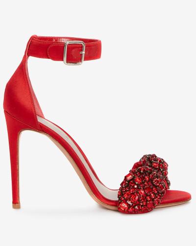 Alexander McQueen Damen Sandalen mit bestickter Schleife