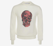 Jacquard-Pullover mit Skull