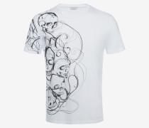 T-Shirt aus Bio-Jersey mit Skull-Print