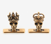 """Manschettenknöpfe mit Queen and King""""-Skulls"""