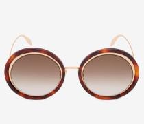 Sonnenbrille mit geschwungenem Metall