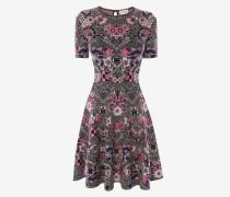 Minikleid aus Jacquard im Jugendstil