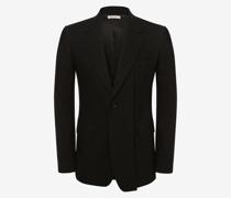 Jacke aus Wollgabardine mit schrägen Revers